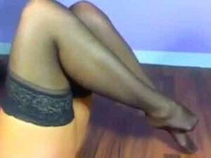 Blonde MILF Nylon Feet Show