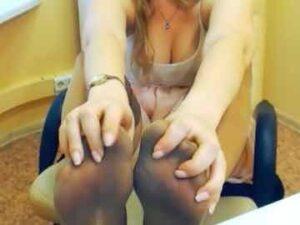 Girl Dirty Nylon Feet On Cam